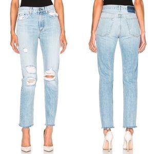 New Rag & Bone/Jean Marilyn Straight Leg Jeans